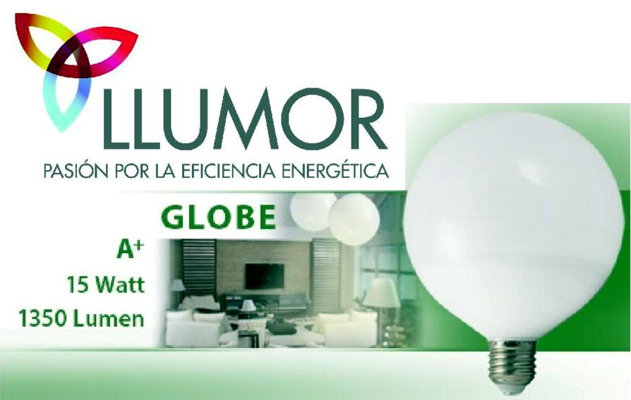Bombilla LED GLOBE E27 15W1