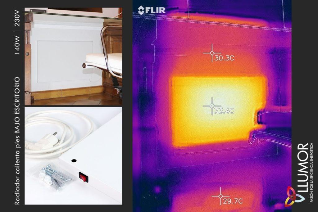 Calefacción oficina | Radiador bajo mesa