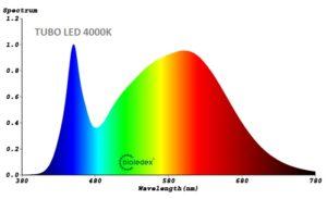 Espectro tubo LED 1