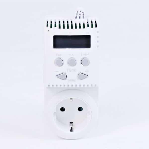 Enchufe termostato TS10 vista frontal