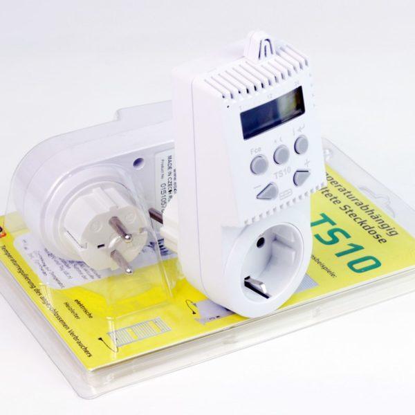 Enchufe termostato TS10 con embalaje