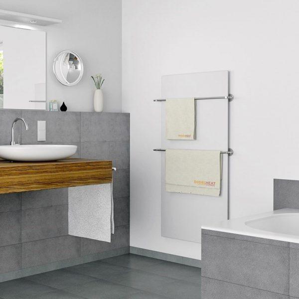 Panel radiante CLASSIC con accesorio barra toallero