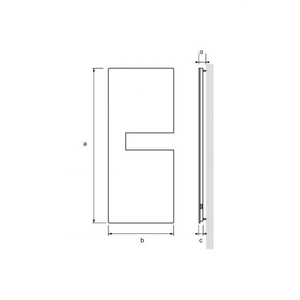 Radiador secatoallas eléctrico AQUARIUS dimensiones