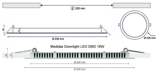 Downlights LED SMD empotrables