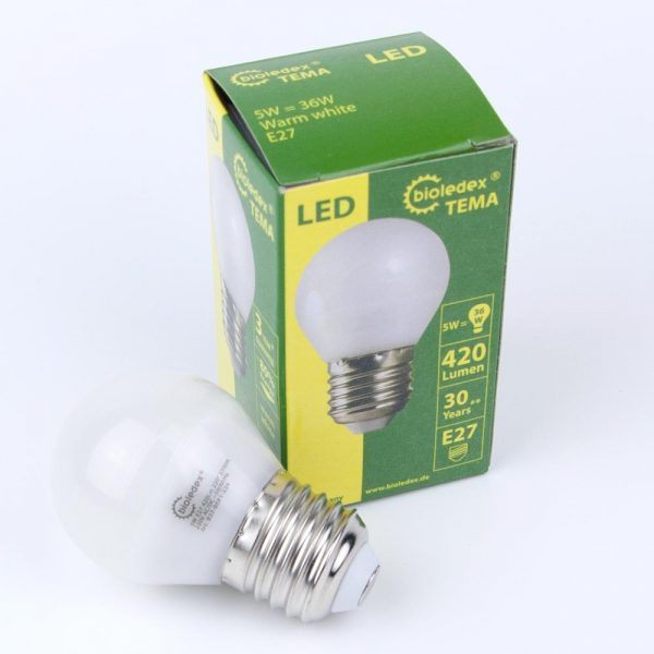 Bombilla LED TEMA E27   5W   230VAC&DC
