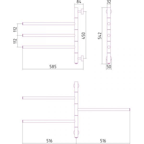 Radiador secatoallas eléctrico | TOALLERO TRIADA