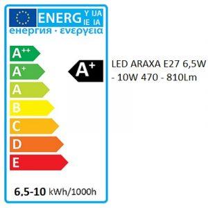 Bombilla LED ARAXA RTO E27 | 6,5W | 8W | 10W