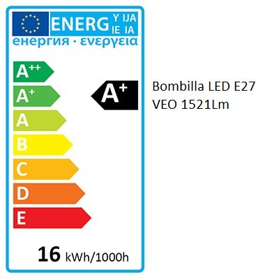 Bombilla LED VEO E27 | 16W