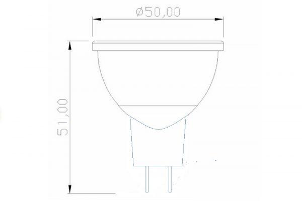 Dicroica LED MR16 PROLED | 6W | COB