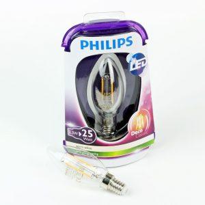 Vela LED FILAMENTO E14 | Philips 2.3W