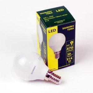 Bombilla esfera LED TEMA E14 | 6W