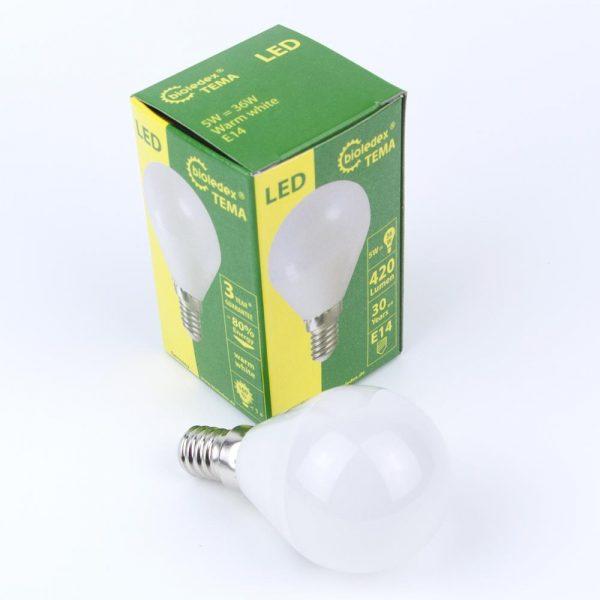 Bombilla esfera LED TEMA E14 | 5W | 230VAC & DC