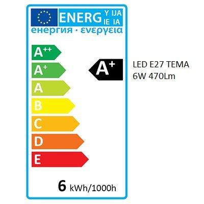 Bombilla LED TEMA E27 | 6W