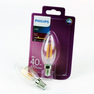 Vela LED FILAMENTO E14 | Philips 4W