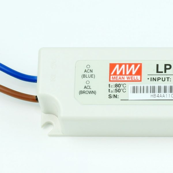 Transformador LED MEANWELL LP 12V DC   24V DC   IP67