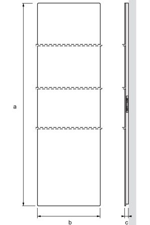 Radiador diseño SAGITTA dimensiones