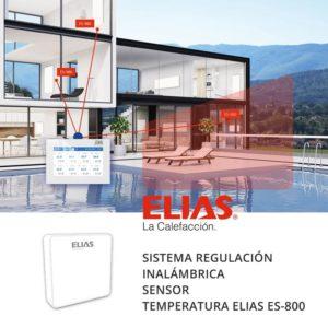 Sistema regulación calefacción ELIAS ES-800 sensor temperatura