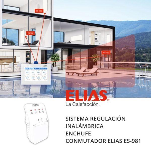 Sistema regulación calefacción ELIAS ES-981 enchufe conmutador adicional