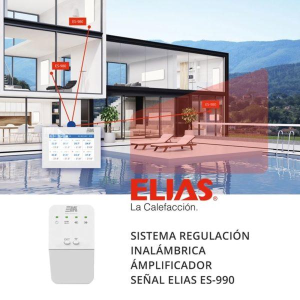 Sistema regulación calefacción ELIAS ES-990 repetidor señal