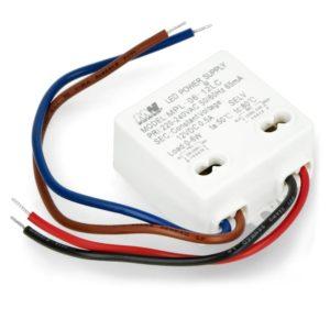 Transformador LED 6W 12V pequeño