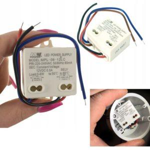 Transformaor LED pequeño de 6W a 12V DC