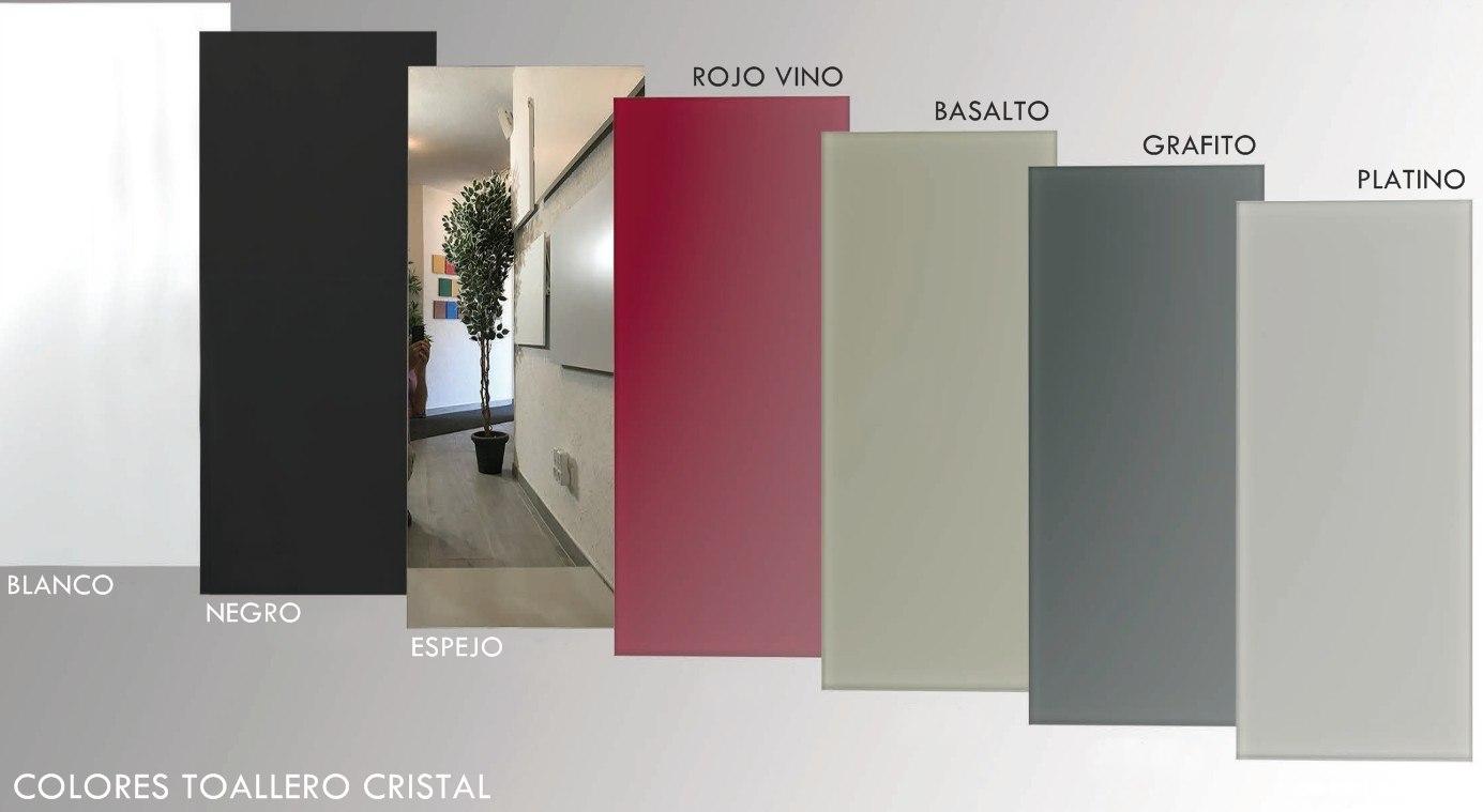 Colores y acabados de TOALLERO CRISTAL en baño