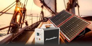 Kit solar portátil en barco