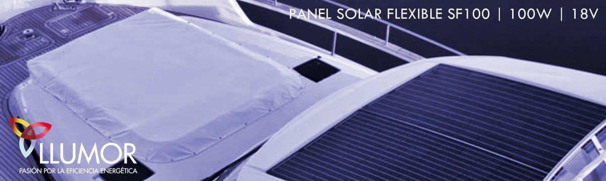 Panel solar flexible 100W en barco